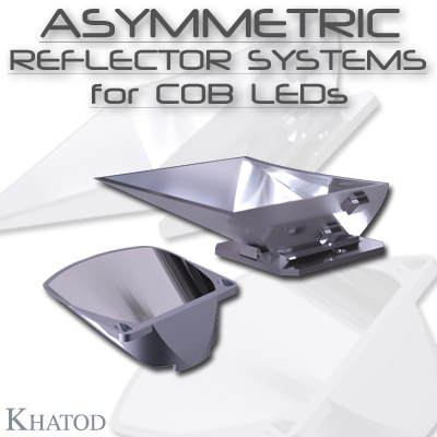 Optical Reflectors and Lenses for COB LEDs: Asymmetric Reflector Systems for COB LEDs