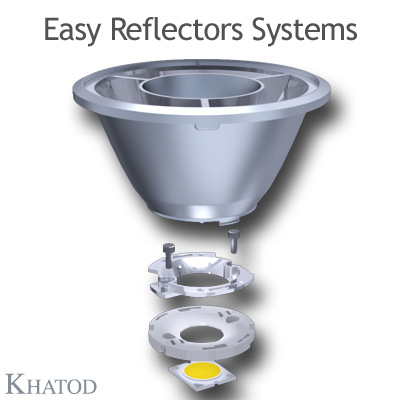 KCLP1859 Easy Reflector Systems - 110mm diameter - 61mm height - COB LED with LES from 16mm to 19mm diameter