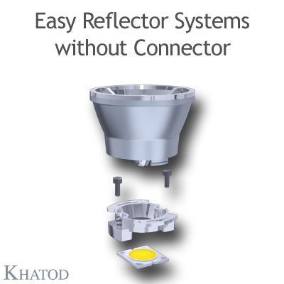 KCLP1857 Easy Reflector Systems - 50mm diameter - 41mm height - COB LED with LES from 9mm to 11mm diameter
