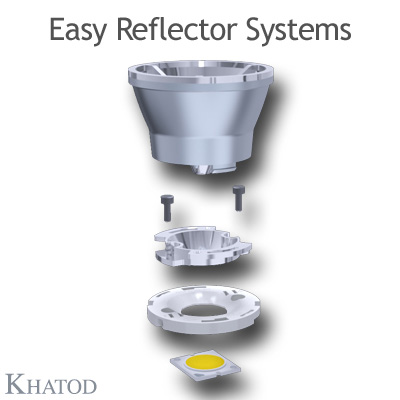 KCLP1856 Easy Reflector Systems - 50mm diameter - 36mm height - COB LED with LES from 9mm to 11mm diameter