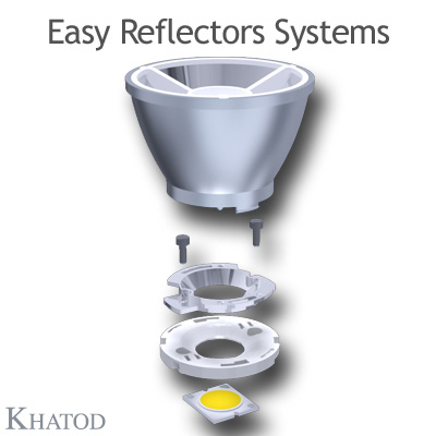KCLP1858 Easy Reflector Systems - 72mm diameter - 51mm height - COB LED with LES from 12mm to 15mm diameter