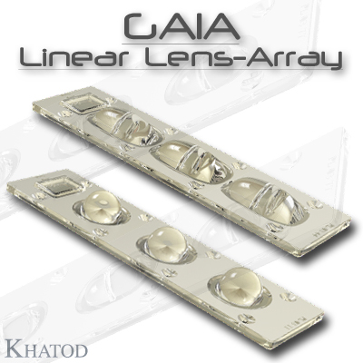 GAIA Linear Lens-Array - GAIA Optical Systems for Multichip LEDs