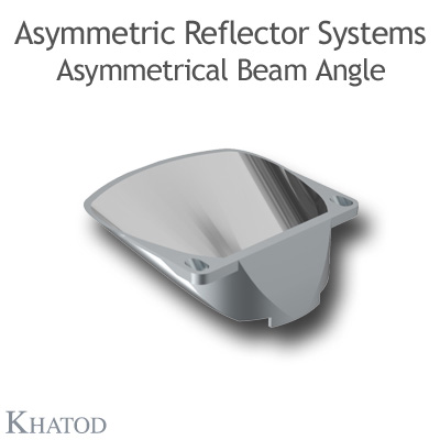 KCLP1829CR Asymmetric Reflector Systems - 60,00mm x 57,26mm side - 20,00mm height - COB LED with LES 16mm diameter