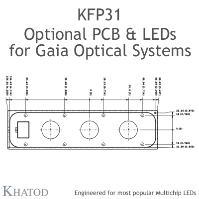 KFP31 - Optional PCB & LEDs for GAIA Linear Lens-Array