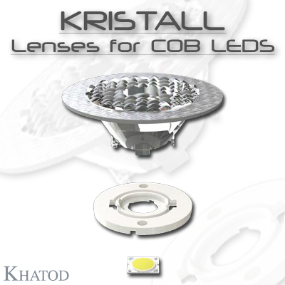 Optical Reflectors and Lenses for COB LEDs: KRISTALL - Lenses for COB LEDs