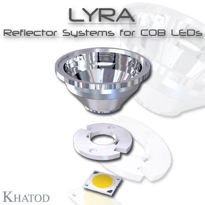 Optical Reflectors and Lenses for COB LEDs: LYRA - Optical Reflector Systems for COB LEDs