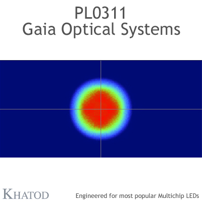 PL0311 GAIA Linear Lens-Array Optical Systems - 60° FWHM - 195,74mm x 50,82mm side - 17,50mm height