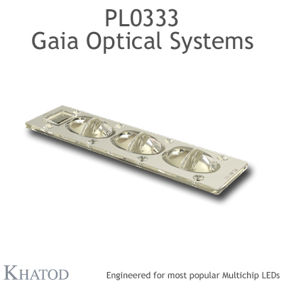 PL0333 GAIA Linear Lens-Array Optical Systems - TYPE I - 195,74mm x 50,82mm side - 15,00mm height