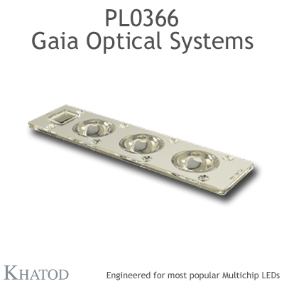 PL0366 GAIA Linear Lens-Array Optical Systems - TYPE V - 195,74mm x 50,82mm side - 7,50mm height
