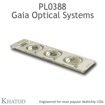 PL0388 GAIA Linear Lens-Array Optical Systems - 120° Square - 195,74mm x 50,82mm side - 13,00mm height
