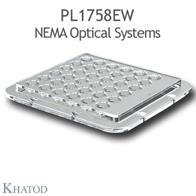 PL1758EW NEMA Optical Systems - NEMA5, 45° FWHM - 110mm x 120mm side - 9,51mm height