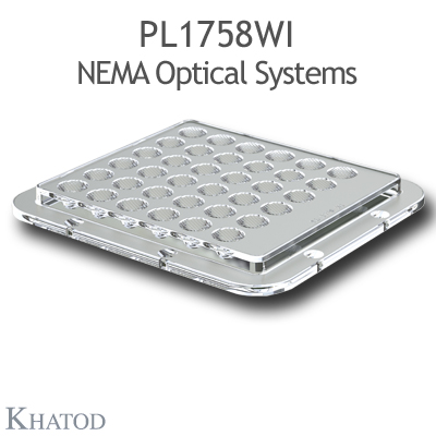 PL1758WI NEMA Optical Systems - NEMA4, 28° FWHM - 110mm x 120mm side - 9,51mm height