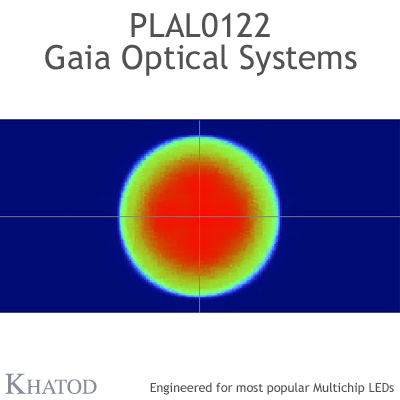PLAL0122 GAIA ONE Optical Systems - 90° FWHM - 49,96mm x 49,96mm side - 14,00mm height