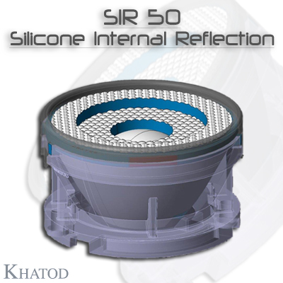 用于COB LED的光学反射器与透镜: SIR50 - SILICONE Internal Reflection 用于 COB LED