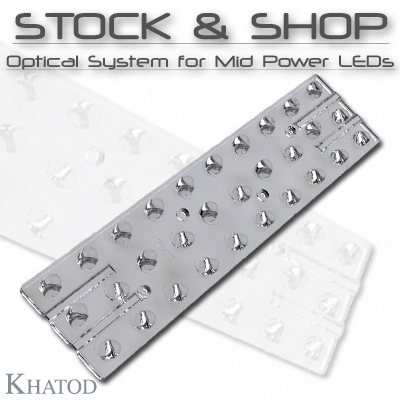 Optical Systems for Mid Power LEDs: STOCK and SHOP Optical Systems for Mid Power LEDs