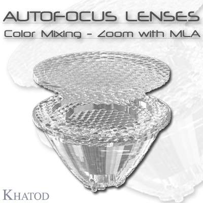 General LED Lighting: AUTOFOCUS LENSES - Color Mixing - Zoom with MLA
