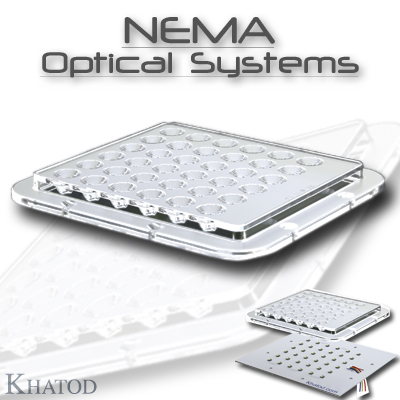 Wide Area LED Lighting: NEMA OPTICAL SYSTEMS for Power LEDs