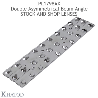 PL1798AX Stock and Shop Lenses - Double Asymmetrical Beam