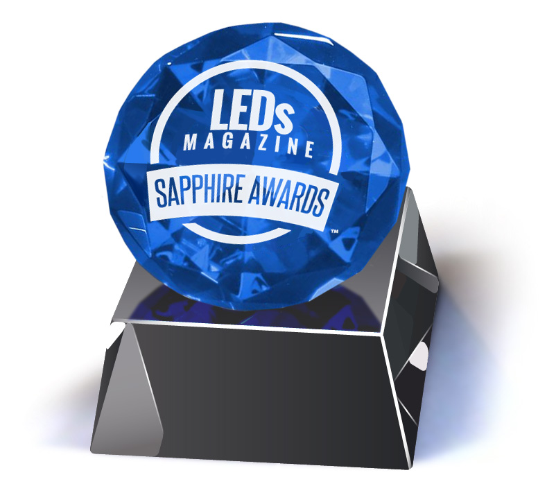 KHATOD won the SAPPHIRE AWARDS 2015 in SSL enabling technologies category with its SIO3 Silicone Lenses for COB LEDs.