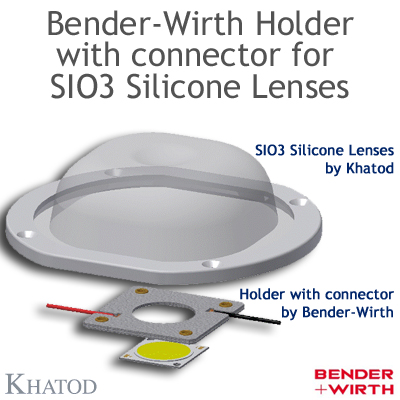 Bender-Wirth Holder with connector for SIO3 Silicone Lenses