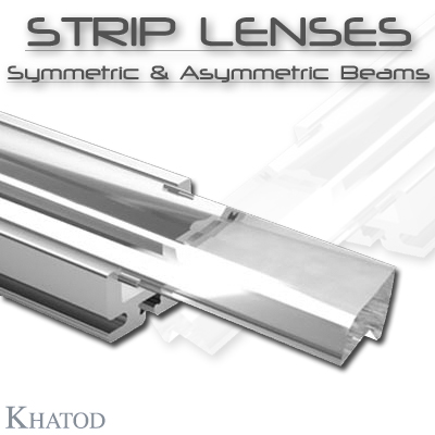 General LED Lighting: STRIP LENSES - Symmetric & Asymmetric Beams